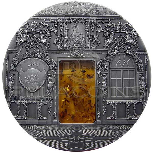Palau 2009 10 Mineral Art Amber Chamber 2oz Silver Ebay