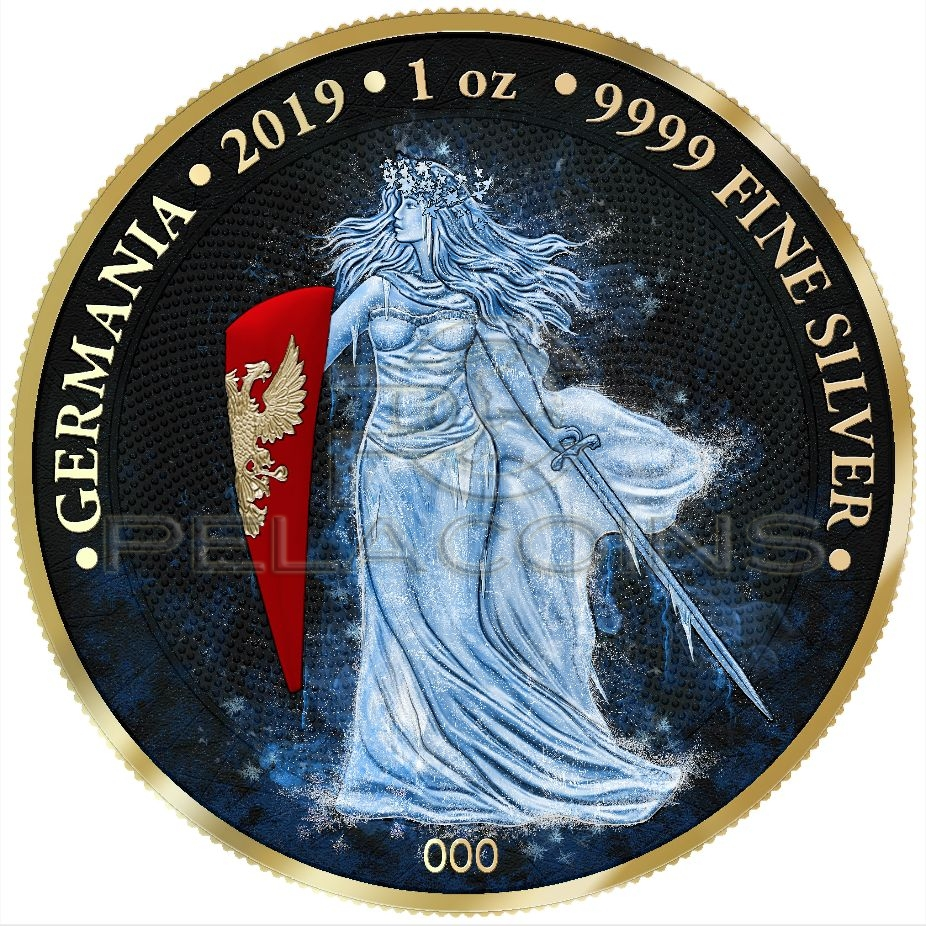 GERMANIA 2020-5 Mark Holographic Edition 1 oz BU