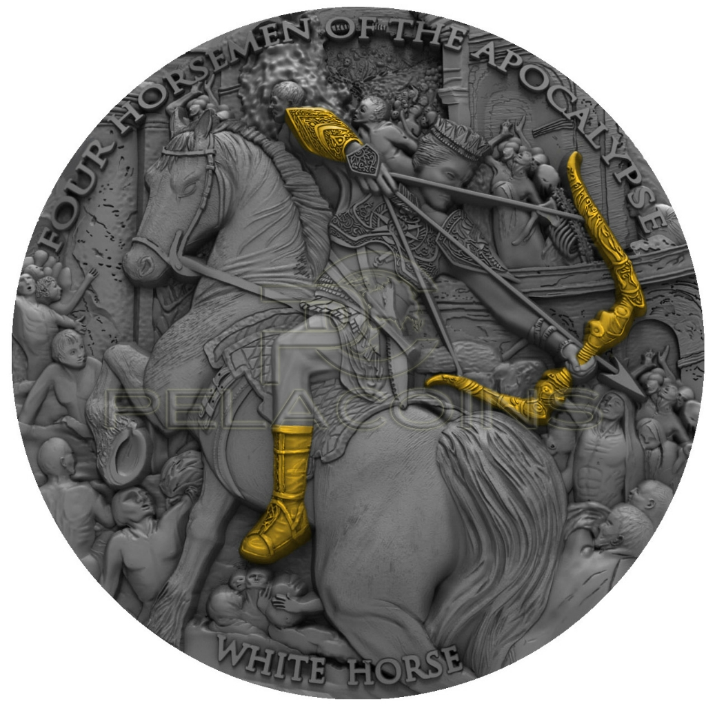 Niue Island 2018 5$ Four Horsemen of the Apocalypse - White Horse
