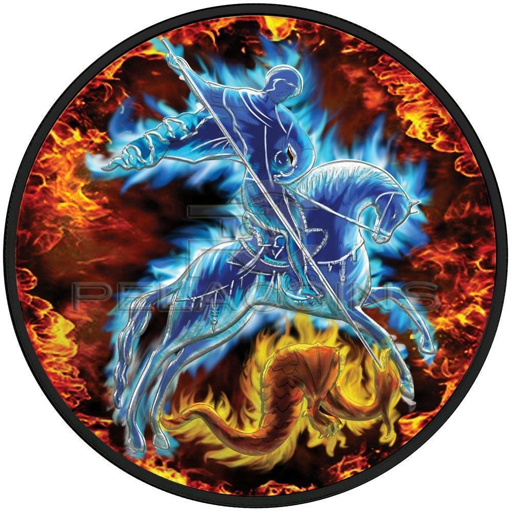 Russia 2009 3 Rubles St. George Fire & Ice 1oz