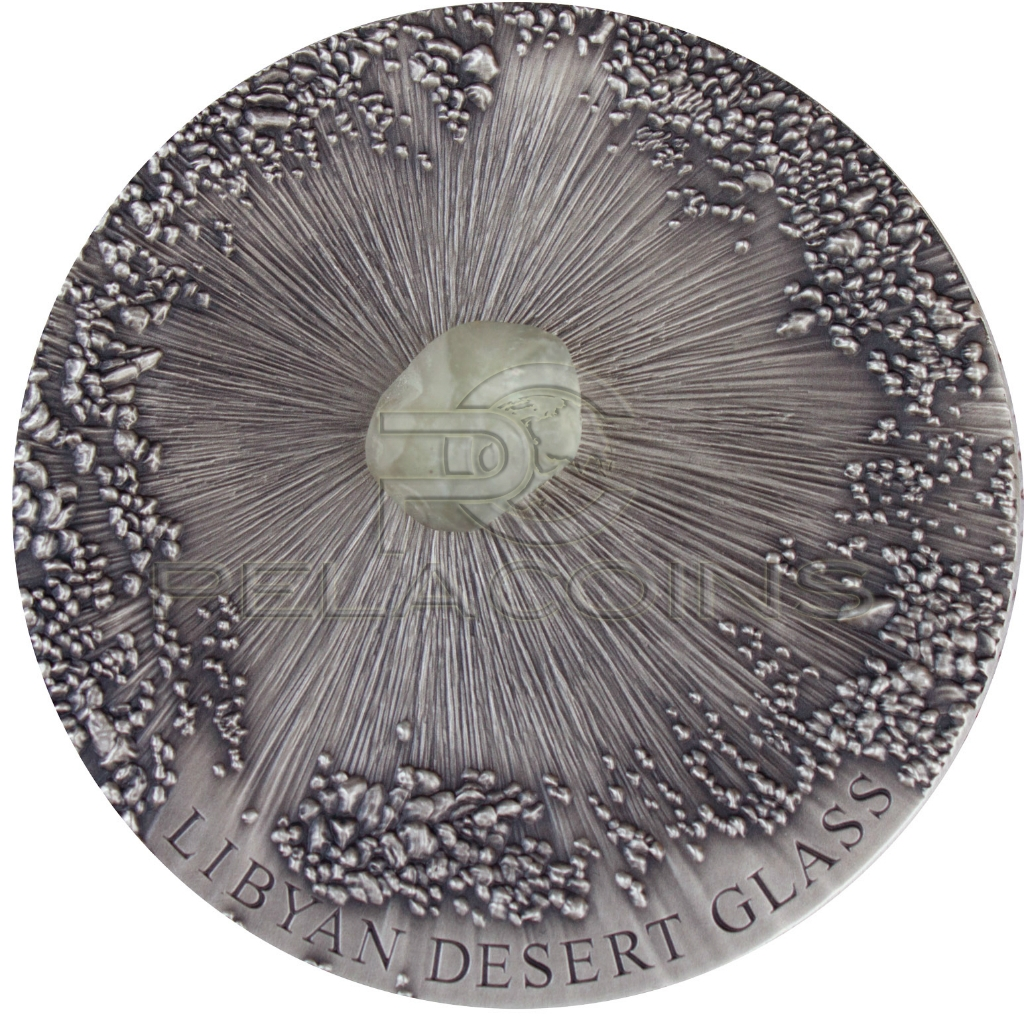 Chad 2017 5000 Francs Libyan Desert Glass - Meteorite Art 5oz