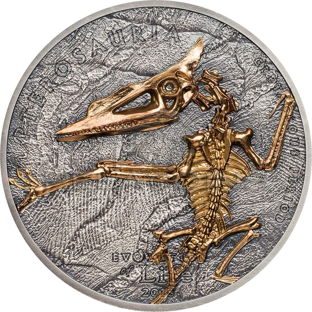 Mongolia 2018 500 Togrog Evolution of Life - Pterosaur 1oz