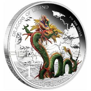 Tuvalu 2012 1$ Dragons of Legend 2 - Chinese Dragon