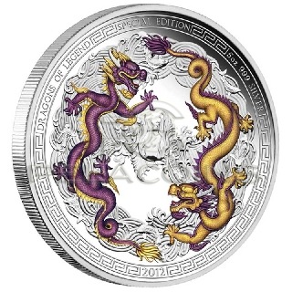Tuvalu 2012 $5 Dragons of Legend Special Edition 5oz