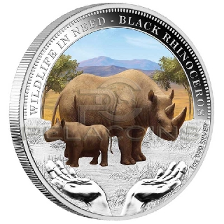 Tuvalu 2012 $1 Black Rhinoceros Wildlife in Need