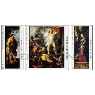 Tokelau 2012 2$ + 2 x 1$ The Resurrection of Christ Triptych