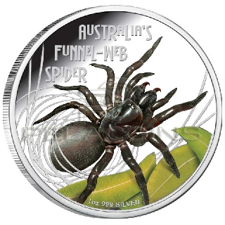 Tuvalu 2012 $1 Funnel Web Spider - Deadly & Dangerou​s