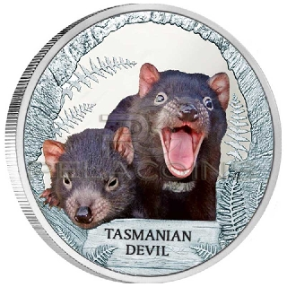 Tuvalu 2012 $1 Endangered and Extinct - Tasmanian Devil