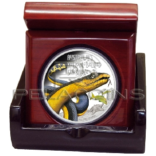 Tuvalu 2013 1$ Deadly and Dangerous - Yellow Bellied Sea Snake 1oz