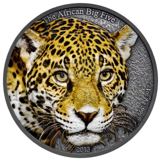 Cameroon 2013 1000 Francs Leopard colored - Big Five 1oz