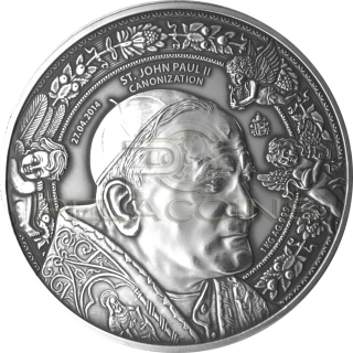 Burkina Faso 2014 10.000 Francs Canonization of Johannes Paul II 1kg only 78 pcs