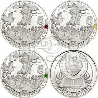 Palau 2014 2$ Resurrection of Jesus (easter egg) 3 coin Set