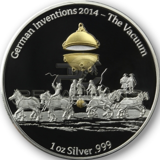 Ghana 2014 5 Cedis German Inventions - The Vacuum 1oz
