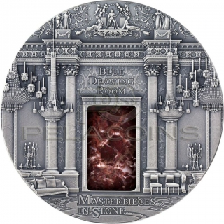 Fiji 2014 20$ Masterpieces in Stone - Blue drawing Room Buckingham Palace 3 oz
