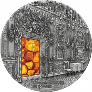 Fiji 2015 10$ Masterpieces in Stone - Amber Room 3oz