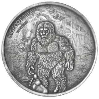 Burkina Faso 2016 1000 Francs - Bigfoot 1oz