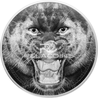 Tanzania 2016 1500 Francs The Black Panther - Rare Wildlife 2oz