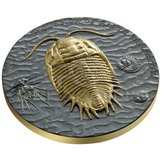 Niue Island 2016 2$ Evolution of Earth - Trilobites 2oz Max. relief
