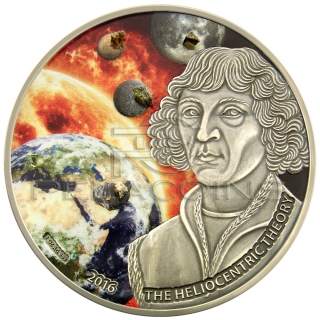 Burkina Faso 2016 1000 Francs Copernicus with 5 Meteorites Moon, Mars, Mercury