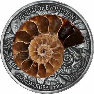 Burkina Faso 2016 1000 Francs World of Evolution - Ammonite 1oz