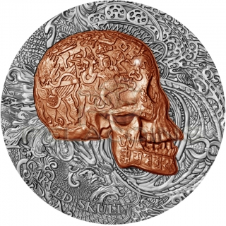 Cameroon 2017 1000 Francs Carved Skull Bones 1oz