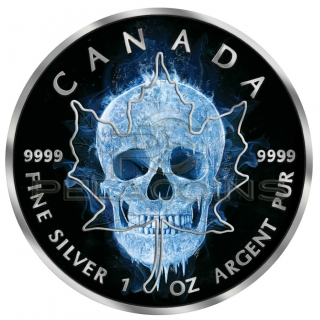 Canada 2017 5$ Maple Leaf - Ice Skull 1oz Black Ruthenium, Color
