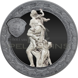 Palau 2018 10$ Rape of Proserpina - Eternal Sculptures 2oz
