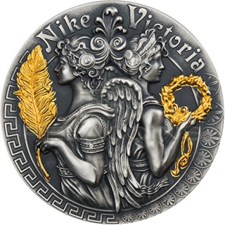 Niue Island 2018 5$ Victoria and Nike - Strong and Beautiful Goddesses 2oz