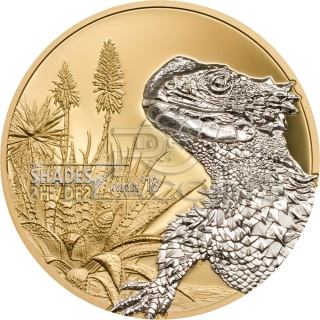 Cook Islands 2018 5$ Shades of Nature - Lizard 1oz