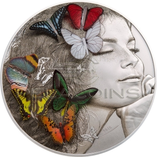 Palau 2018 20$ Butterfly 3D Exotic Butterflies - Dream Edition 5oz