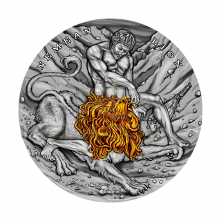 Niue Island 2018 5$ Twelve Labours of Hercules - Nemean Lion 2oz