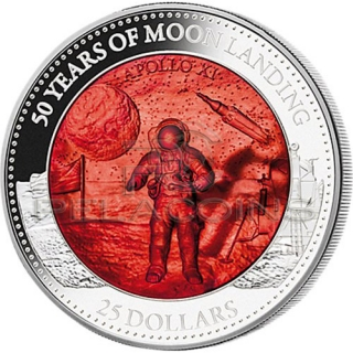 Solomon Islands 2019 25$ Mother Of Pearl - Moon Landing 50th Anniversary 5oz