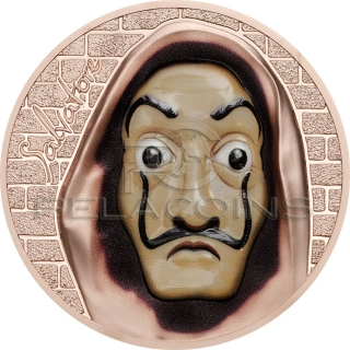 Cook Islands 2018 5$ SALVATORE Dali Money Heist Revolutionary Masks 1oz