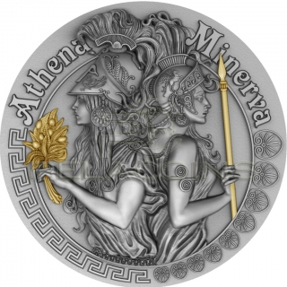 Niue Island 2019 5$ ATHENA and MINERVA Strong and Beautiful Goddesses 2oz
