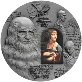 Cameroon 2019 2000 Francs 500th Anniversary of Leonardo Da Vinci\'s Death 2 oz