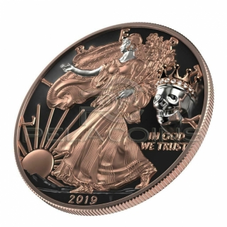 USA 2019 1$ American Eagle King´s Skull 1oz