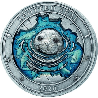 Barbados 2020 5$ Underwater World - Spotted Seal 3oz