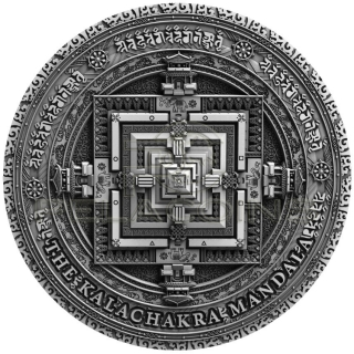 Niue Island 2019 5$ Ancient Calendars - Mandala Kalachakra 2oz