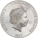 Cook Islands 2017 5$ Magnificent Life Cobra 1oz Silver Coin