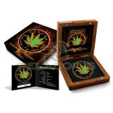 Canada 2017 5$ Maple Leaf - Burning Marihuana Hybrid - Sativa - Indica 1oz Ruthenium plated