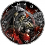 Canada 2017 5$ Maple Leaf Puma Privy Proof - Grim Reaper Armageddon II 1oz Ruthenium plated Color