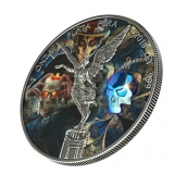 Mexico 2018 1 Onza Libertad Crystal Skull 1oz Silver Antique Finish Coin