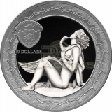 Palau 2019 10$ Leda and Swan 2oz
