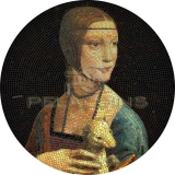 Palau 2020 20$ LADY WITH AN ERMINE Leonardo da Vinci Great Micromosaic Passion 3oz